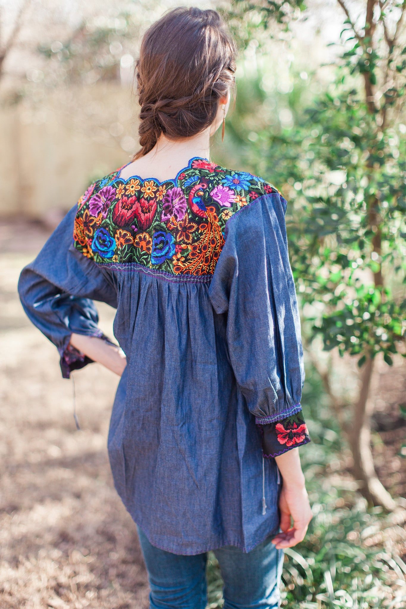 Chambray Embroidered Chiapas Tunic