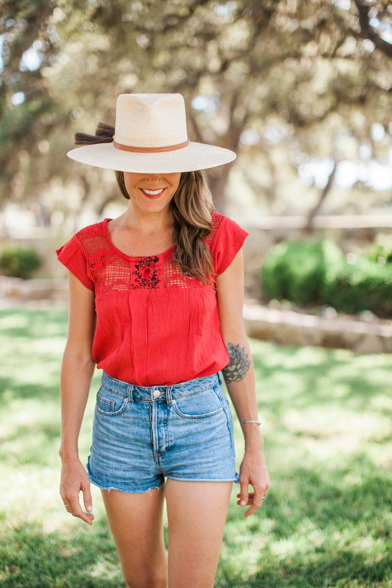 Red Franco Blouse
