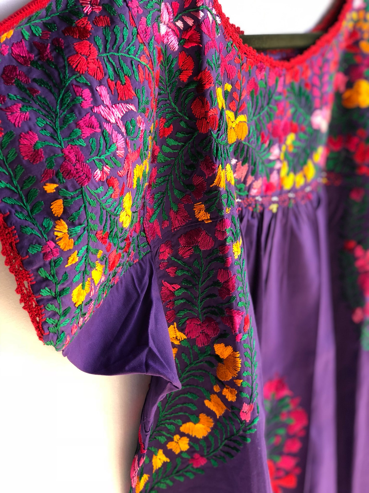 Purple with Multicolor San Antonino Blouse L