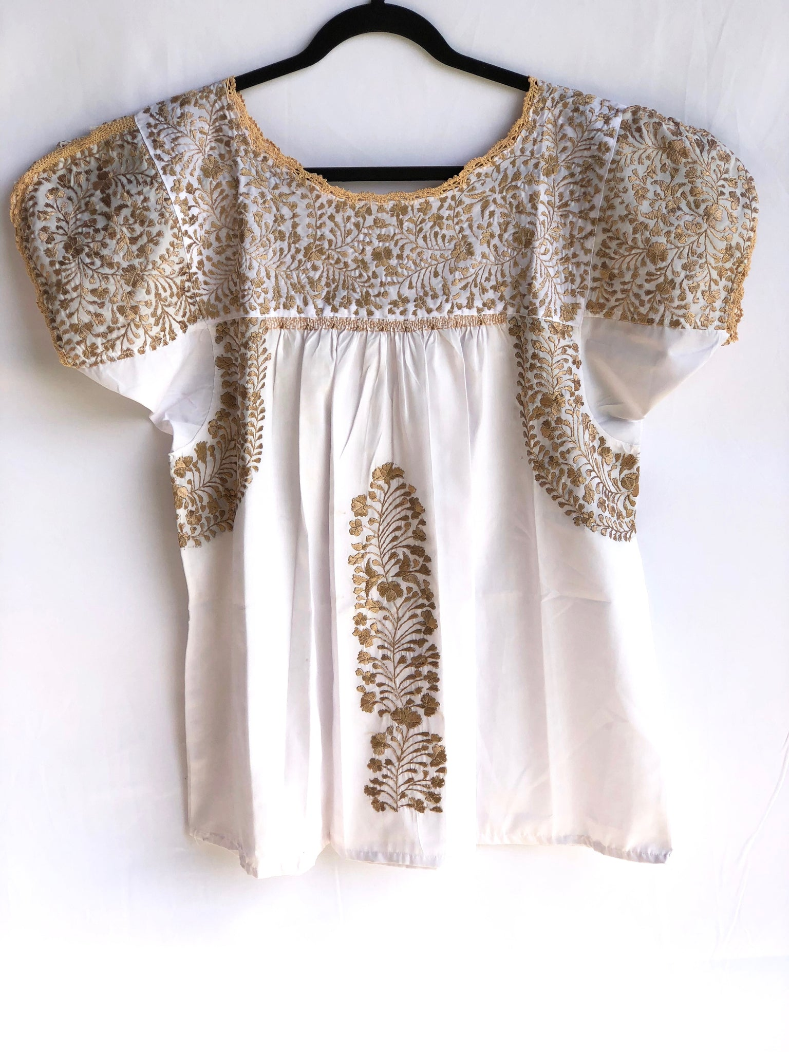 White with Gold San Antonino Blouse M/L