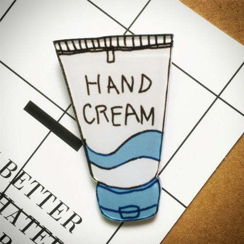Hand Cream Acrylic Brooch - Ice Cream Cake