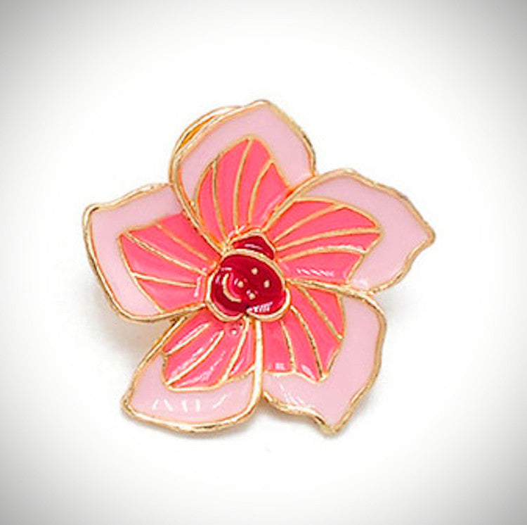 Cherry Blossom Enamel Pin - Ice Cream Cake