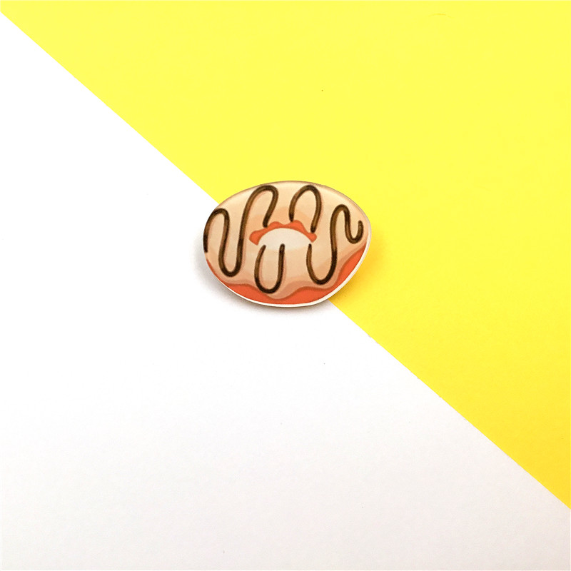 Sweet and Savoury Acrylic Snack Brooches (12 designs)