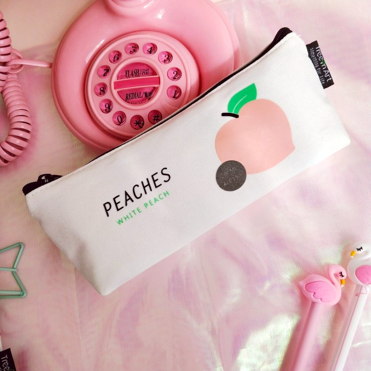 Peach Pencil Case (4 Designs) - Ice Cream Cake