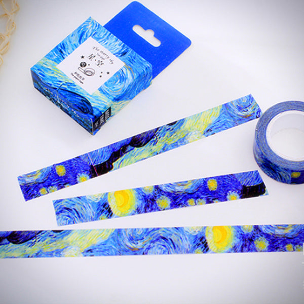 Van Gogh Starry Night Masking Tape - Ice Cream Cake