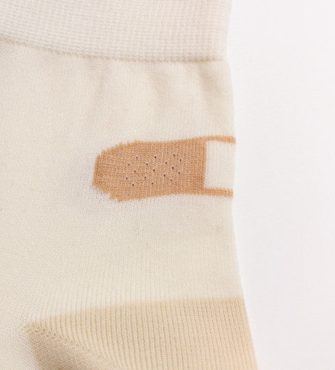 Opaque knit bandaid socks - Ice Cream Cake