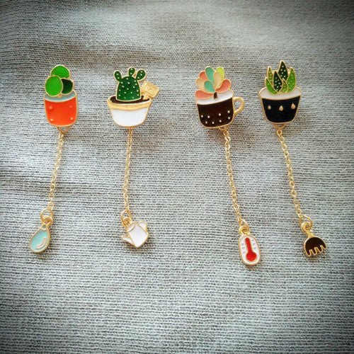 Potted Succulent Charm Pin (4 Designs) - Ice Cream Cake
