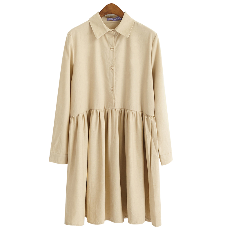 Classic Collared Smock Dress (2 Colours) - Ice Cream Cake