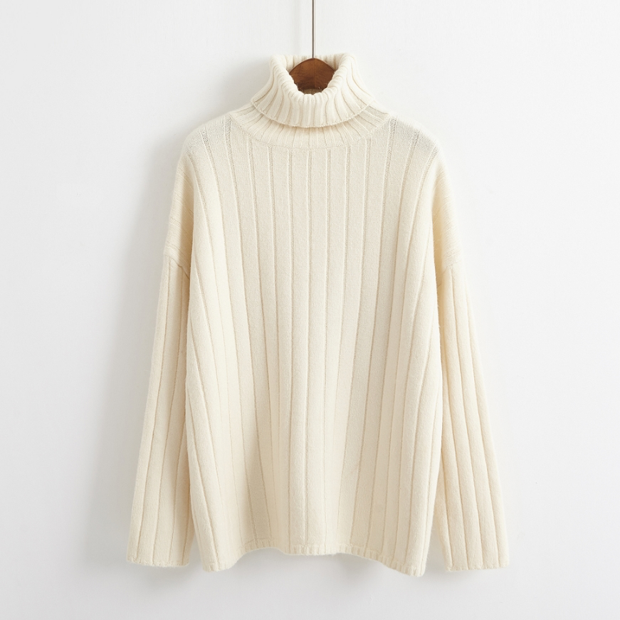 Ribbed Turtleneck Jumper (3 colours) - Ice Cream Cake