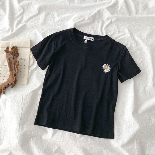 Daisy Embroidery T-shirt (5 Colours)