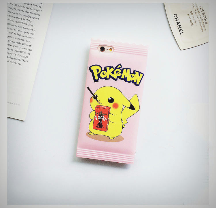 Pikachu Packet iPhone Case - Ice Cream Cake