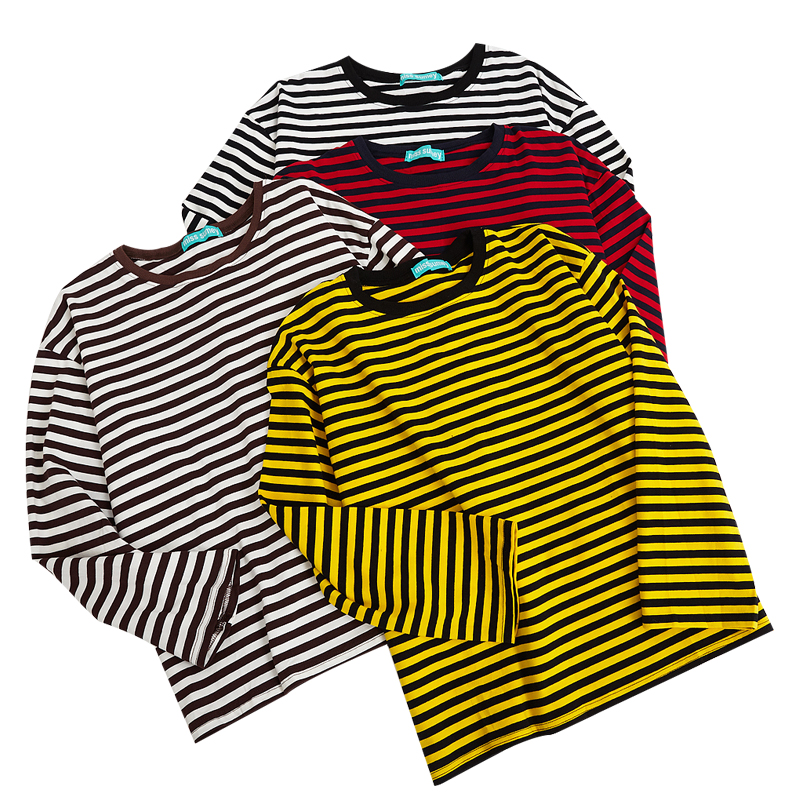 Grunge Stripe Longsleeved Top (4 colours) - Ice Cream Cake