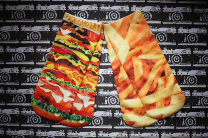 Snackwave photo print ankle socks: burger and fries set - Ice Cream Cake
