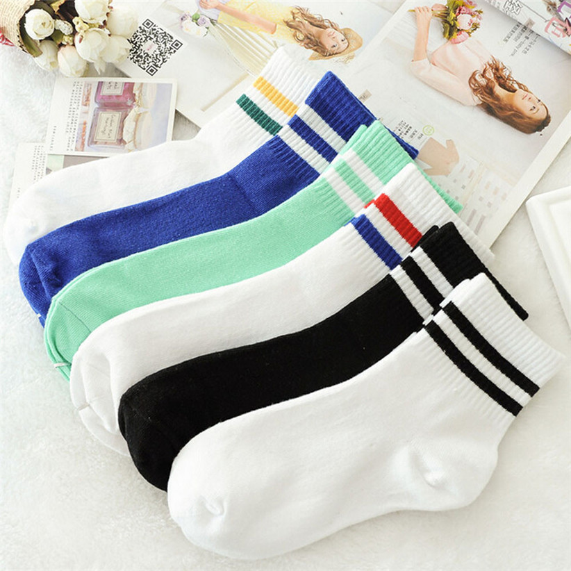 Vintage Style Stripe Sports Socks (6 Colours) - Ice Cream Cake