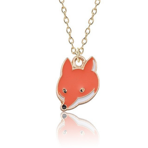 Fox Face Necklace - Ice Cream Cake
