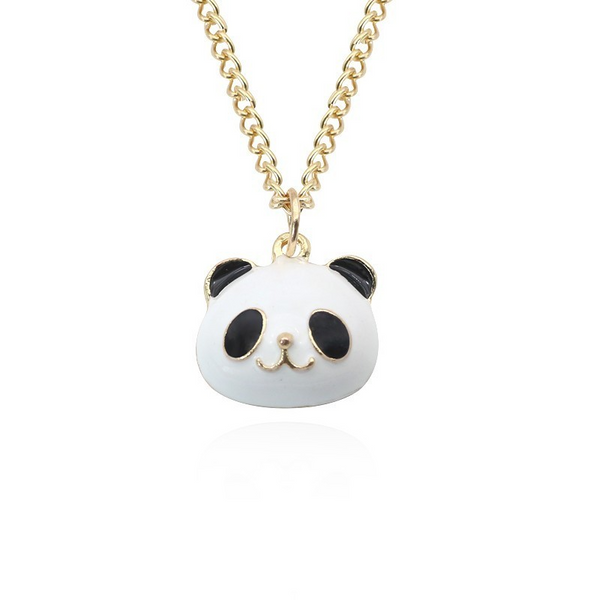 Panda Face Necklace - Ice Cream Cake