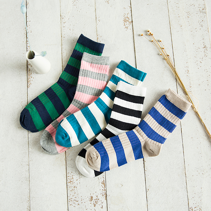 Preppy Striped Socks (5 colours) - Ice Cream Cake