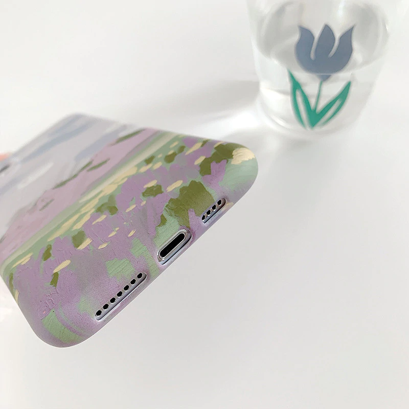 Pastel Painted Meadow iPhone Case