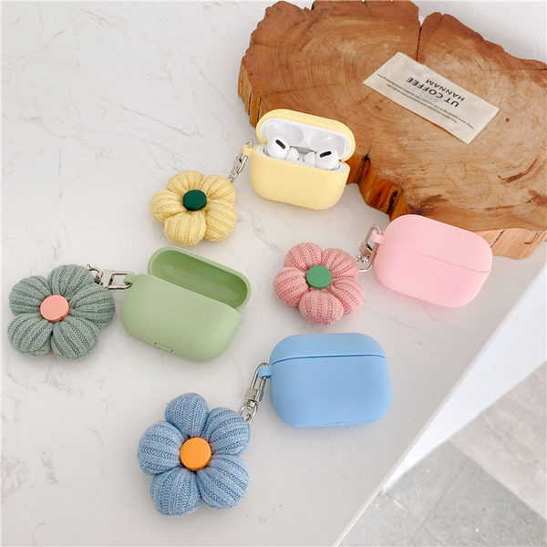 Knitted Daisy Airpod Case Cover (4 Colours)