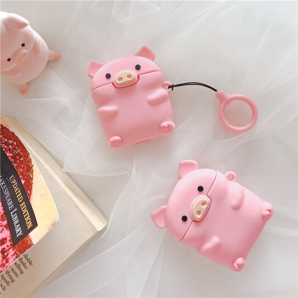 Piglet Airpod Case Cover - Ice Cream Cake