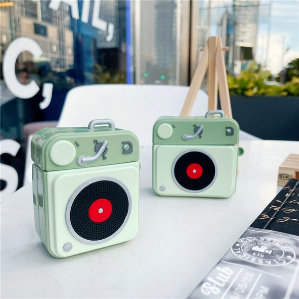 Record Player Airpod Case Cover
