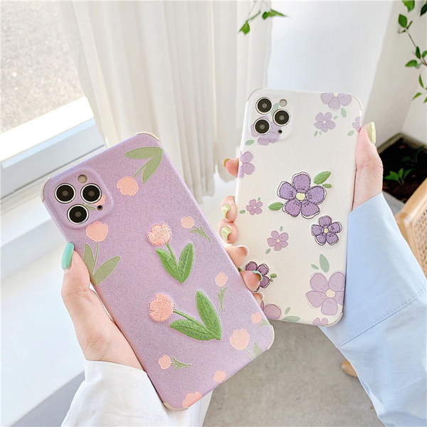 Embroidered Flower iPhone Case (2 Designs)
