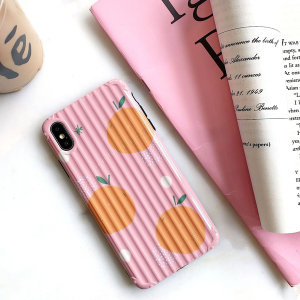 Pink Orange Pattern iPhone Case