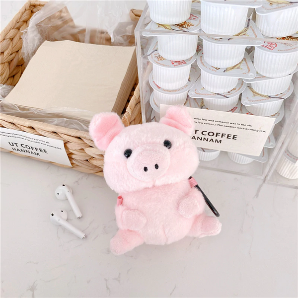 Plush Piglet Airpod Case Cover