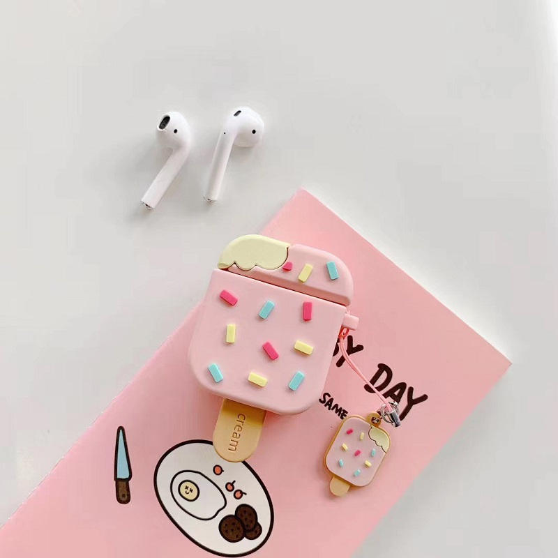 Rainbow Sprinkle Ice Cream Airpod Case Cover (2 Designs)