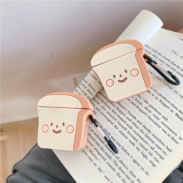 Smiley Bread Airpod Case Cover - Ice Cream Cake