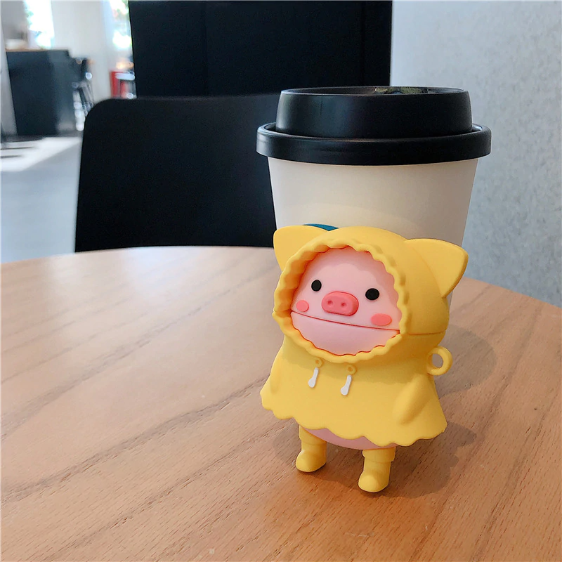 Rainy Day Piglet Airpod Case Cover