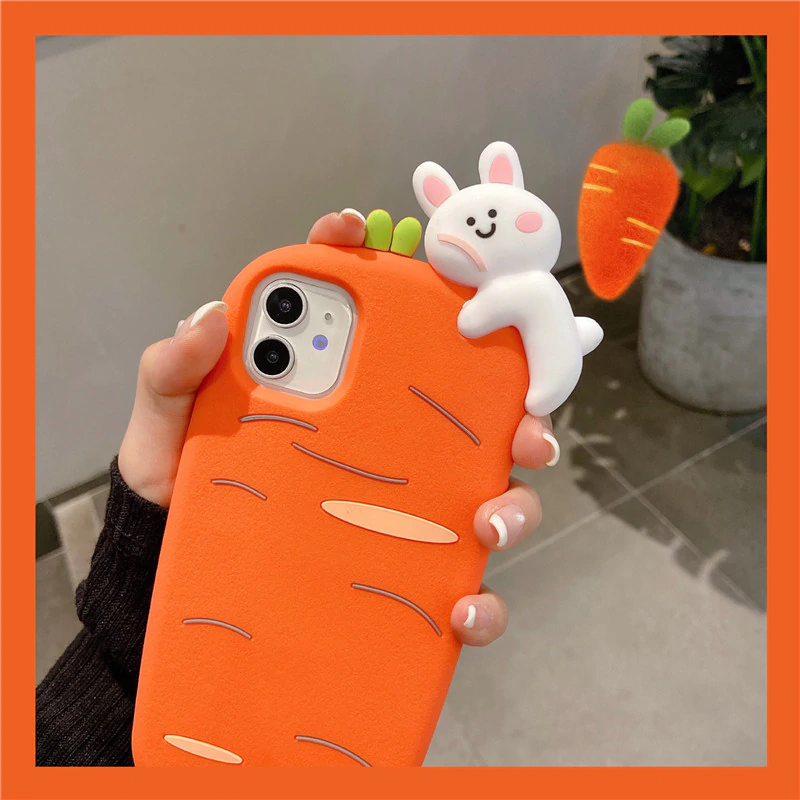 Carrot Bunny iPhone Case with Charm