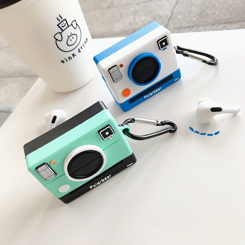 Instant Camera Airpod Case Cover (2 Colours) - Ice Cream Cake