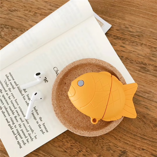 Dorayaki Fish Bun Airpod Case Cover - Ice Cream Cake