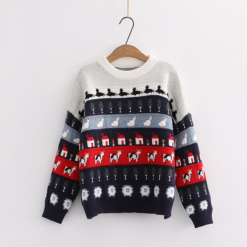 Farm Life Pattern Jumper (2 Colours)