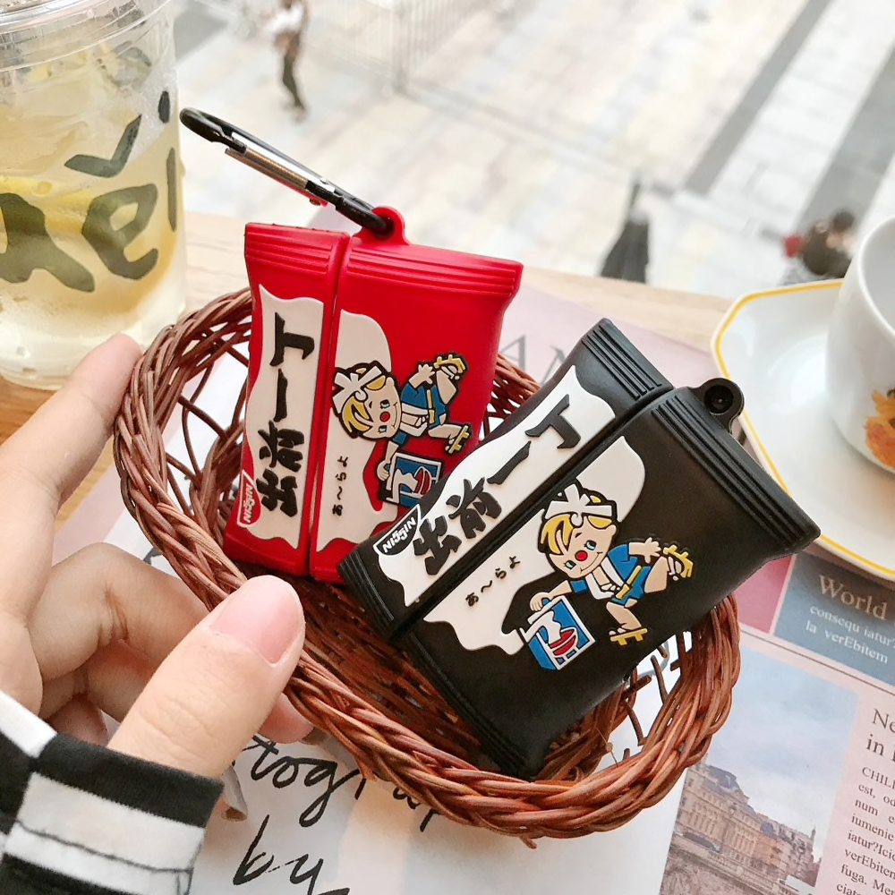 Nissin Ramen Packet Airpod Case Cover (2 Colours) - Ice Cream Cake