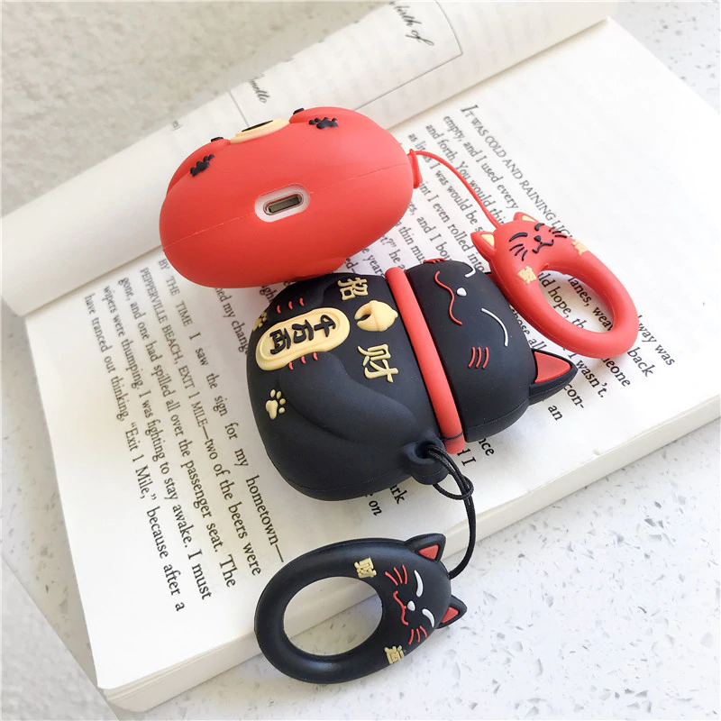 Lucky Cat Airpod Case Cover (3 Colours)