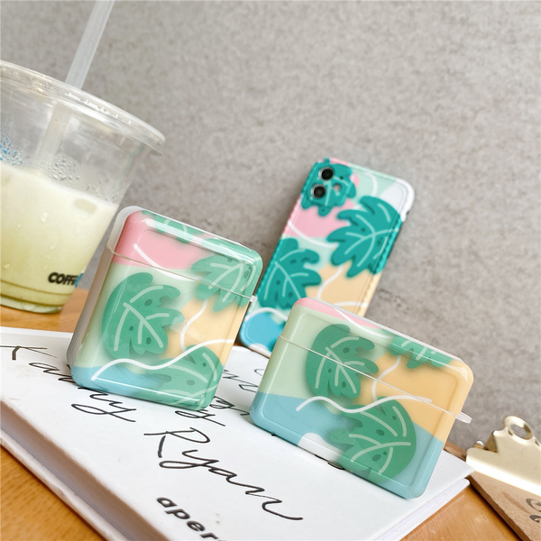 Pastel Plants Airpod Case Cover