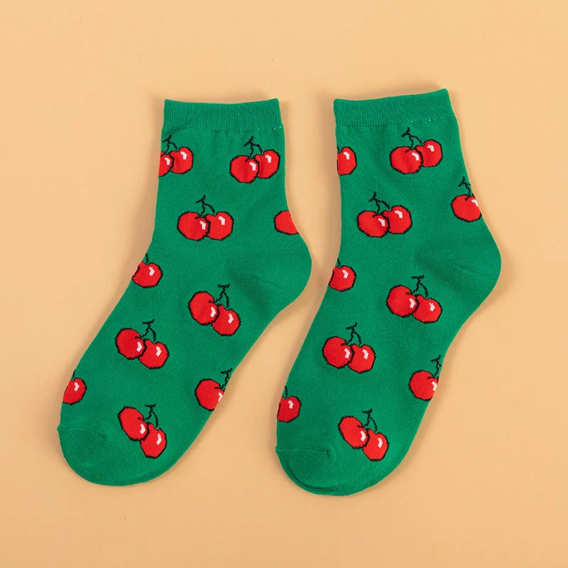 Low Fruit Pattern Ankle Socks (5 Designs)