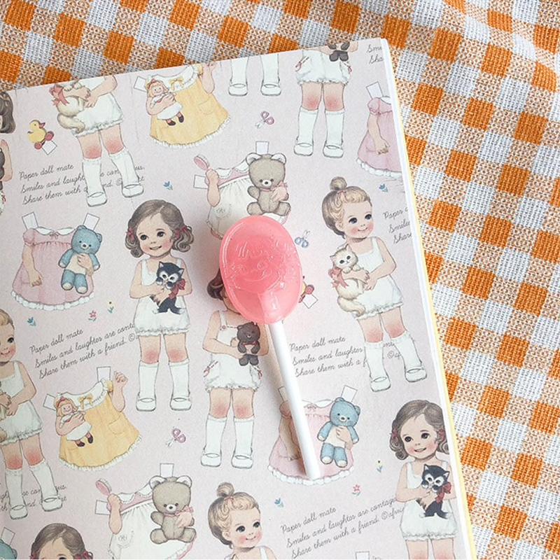 Peko Chan Lollipop Brooch (7 Colours) - Ice Cream Cake