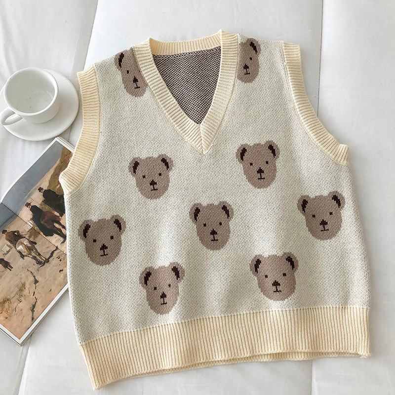 Teddy Bear Sweater Vest (3 Colours)