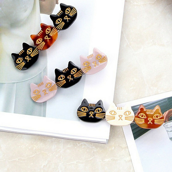 Cat Face Hairclip (3 Colours) - Ice Cream Cake