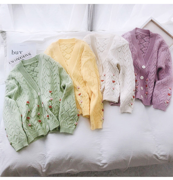Cottagecore Flower Cardigan (4 Colours)