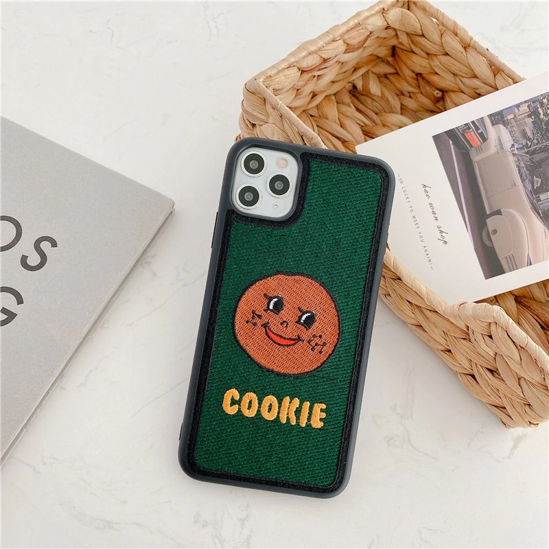 Embroidered Happy Cookie iPhone Case