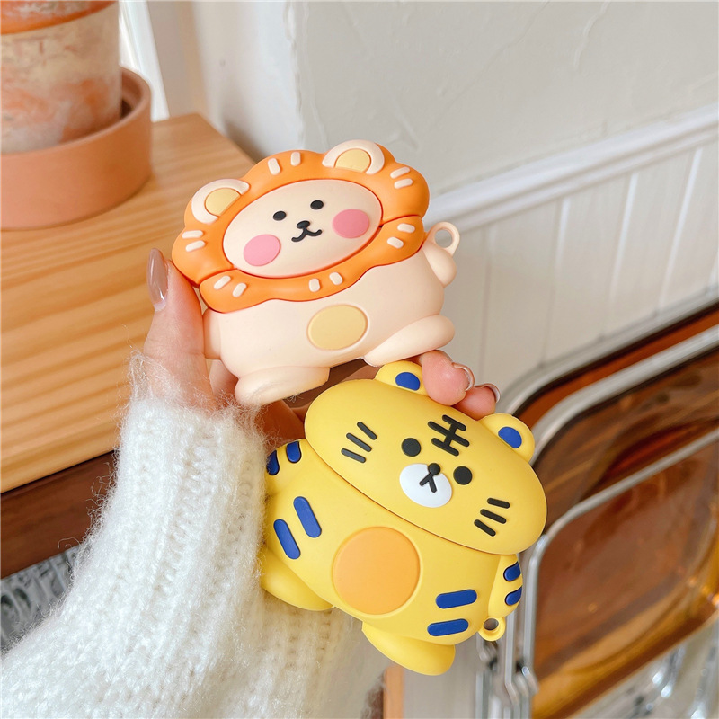 Tiger and Lion AirPods Case Cover (2 Designs)