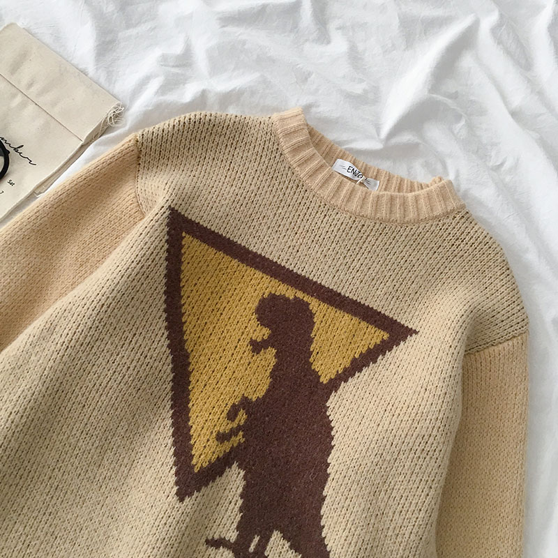 Knit Dinosaur Traffic Sign Jumper (2 Colours)