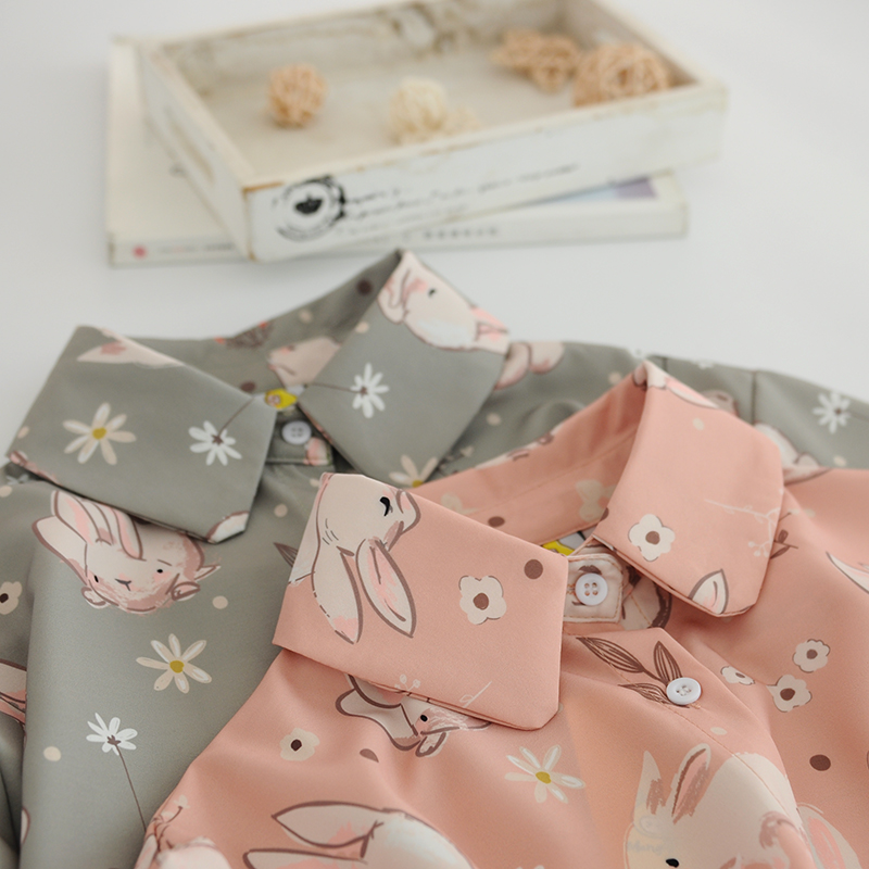 Bunny Print Blouse (2 Colours)