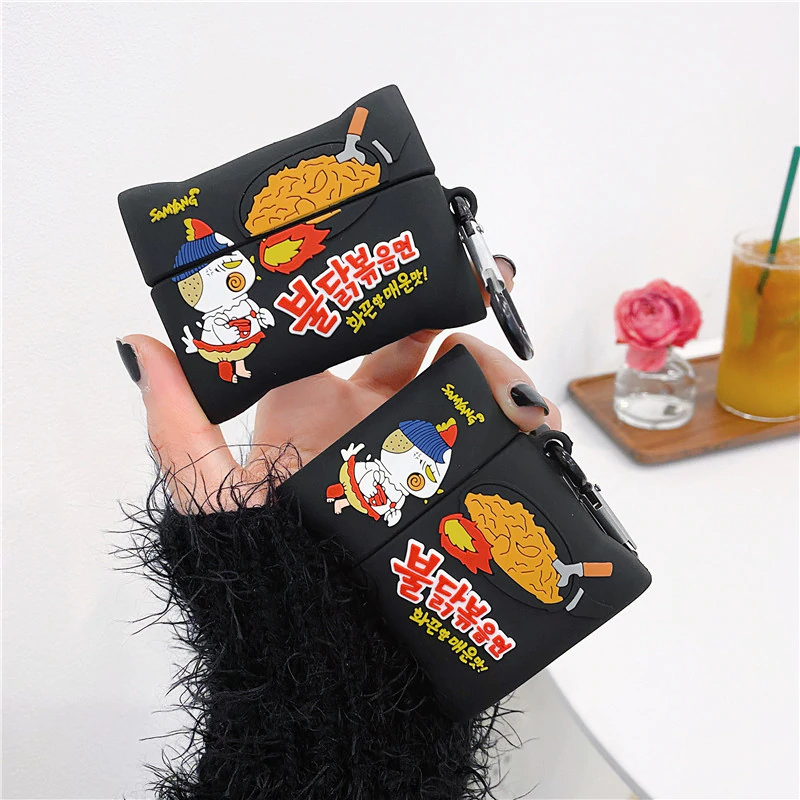 Korean Fire Noodle Packet Airpod Case Cover