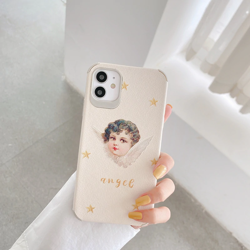 Vintage Style Cherub Clear iPhone Case (2 Designs)