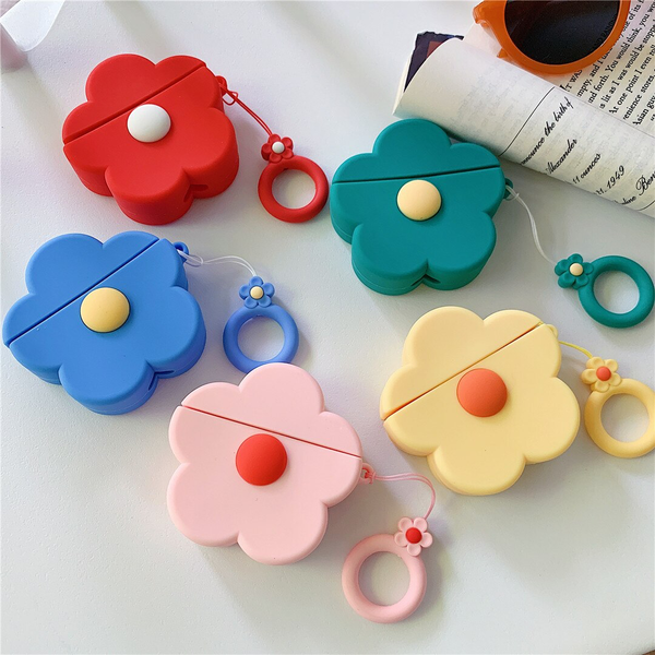 Retro Pop Flower Airpod Case Cover (5 Colours)